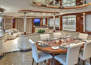essbereich tisch luxusyacht elegance 105