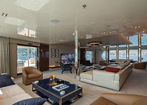 Wohnzimmer luxusyacht serenity 72 Mittelmeer