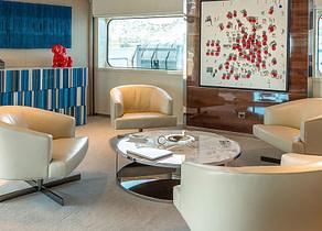 Wohnzimmer luxusyacht serenity 72