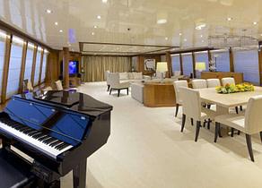 lounge luxusyacht oleanna 145ft Mittelmeer