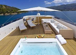 pool luxusyacht oleanna 145ft Mittelmeer