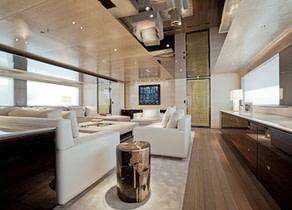 Wohnzimmer luxusyacht charter aslec 4 westliches mitelmeer