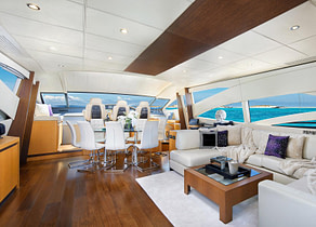 lounge luxusyacht pershing 90 shalimar ii balearic islands