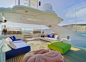 sunbeds luxusyacht crm 130 bunker balearic islands