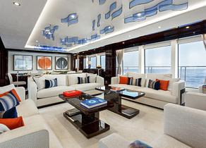 lounge luxusyacht sunseeker 131 ladym charter