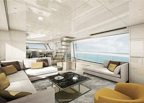 salon luxusyacht charter sanlorenzo sx76 mallorca