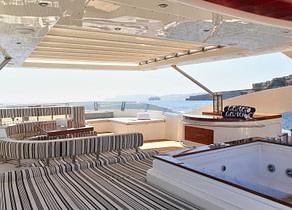 Sonnendeck luxusyacht aicon yachts 27m charter