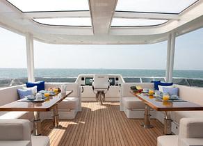 Sonnendeck luxusyacht mulder 286m firefly westliches mitelmeer