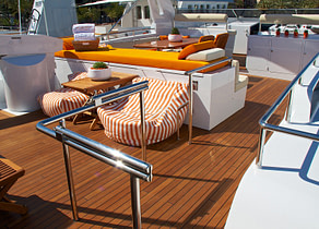 oberdeck luxusyacht heesen 28m heartbeat of life spanien
