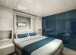 vip kabine luxusyacht charter sanlorenzo sx76 mallorca