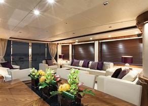 lounge luxusyacht sunseeker 28m suedfrankreich