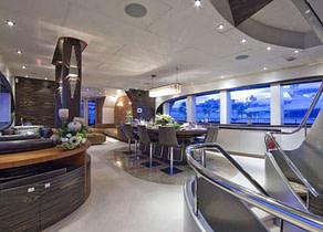 luxusyacht oceanline 127 one blue suedfrankreich lounge