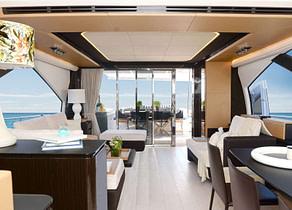lounge Luxury Yacht azimut 77 makani griechenland