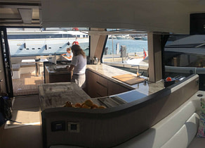 kitchen luxusyacht galeon 640 fly habana iv balearic islands