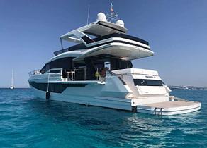 luxusyacht galeon 640 fly habana iv balearic islands rückseite