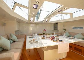 sailing yacht luxury charter miayabi balearic islands lounge