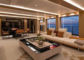 lounge luxusyacht rossinavi 50m lel charter