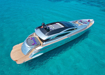 luxusyacht pershing 90 shalimar ii balearics charter
