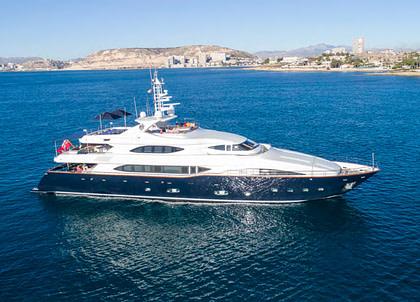 luxusyacht crm 130 bunker balearic islands