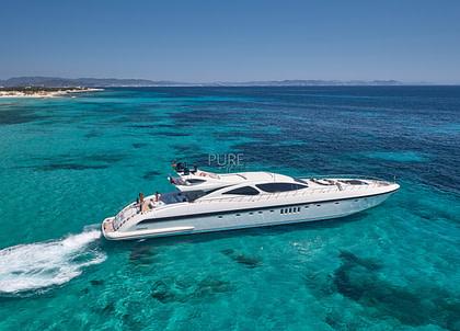 luxusyacht mangusta 130 shane balearic islands
