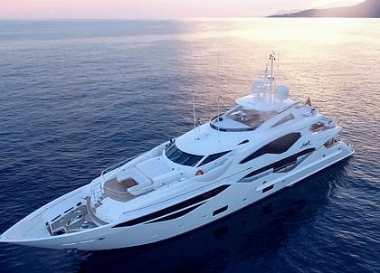 luxusyacht sunseeker 131 ladym östliches mittelmeer charter