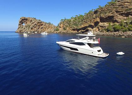 luxusyacht sunseeker 75 balearic islands charter