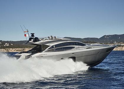 luxusyacht pershing 74 charter balearic islands baloo